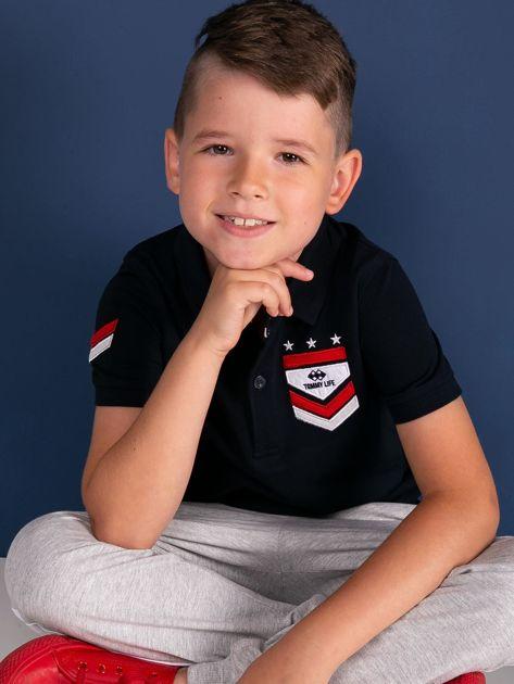 Granatowa koszulka polo dla chłopca TOMMY LIFE