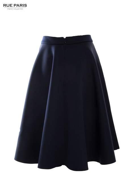 Granatowa neoprenowa spódnica midi szyta z koła                              zdj.                              5