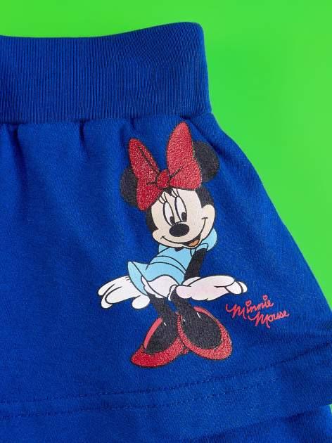 Granatowa spódnica dla dziewczynki z falbanami MINNIE MOUSE                                  zdj.                                  4