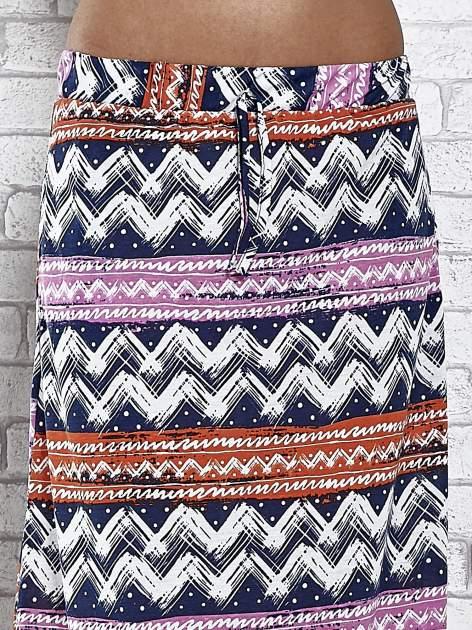 Granatowa spódnica maxi w azteckie wzory                                  zdj.                                  5