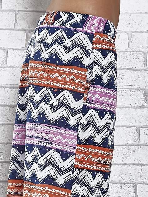 Granatowa spódnica maxi w azteckie wzory                                  zdj.                                  6