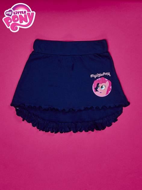 Granatowa spódnica z falbanami dla dziewczynki MY LITTLE PONY                                  zdj.                                  1