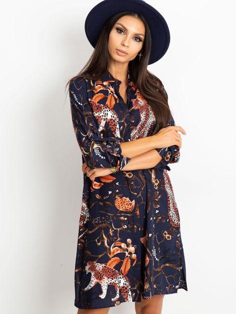 Granatowa sukienka Beverly                              zdj.                              5