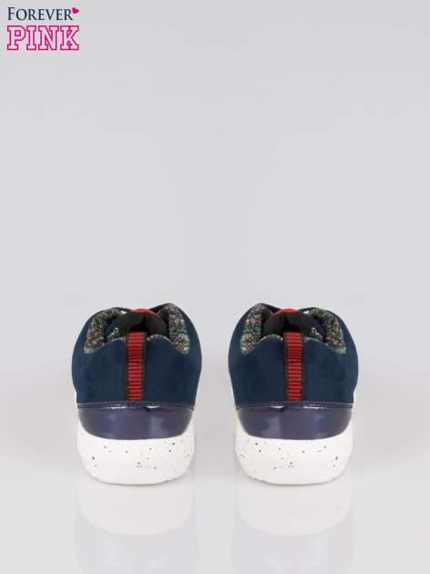 Granatowe buty sportowe faux suede Hollywood z zamszu                                  zdj.                                  3