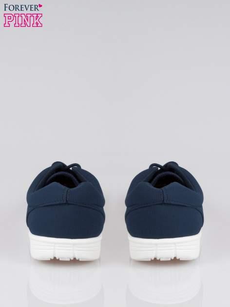Granatowe buty sportowe textile Superior na podeszwie flex                                  zdj.                                  3
