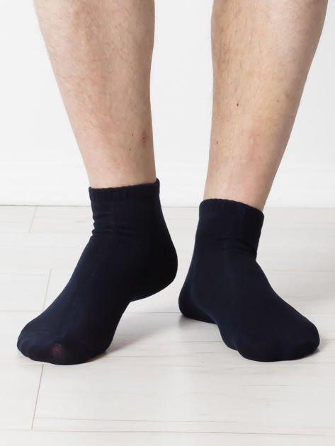 Granatowe gładkie stópki męskie