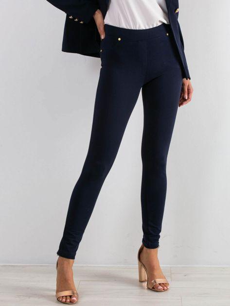 Granatowe spodnie Wondefully                              zdj.                              1