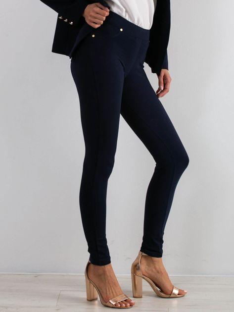 Granatowe spodnie Wondefully                              zdj.                              3