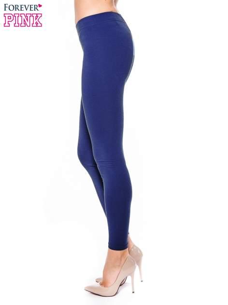 Granatowe legginsy z bawełny                                  zdj.                                  2