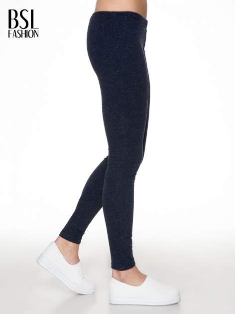 Granatowe melanżowe legginsy                                  zdj.                                  3