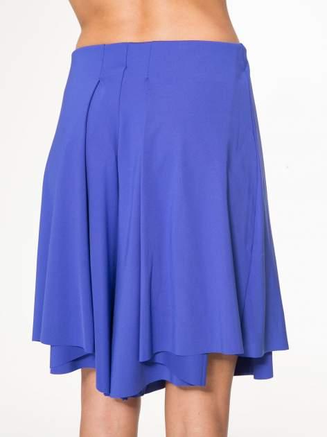Granatowe spódnicospodnie z zakładkami                                  zdj.                                  6