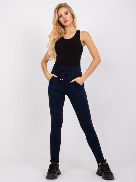 Granatowe spodnie Cadence                              zdj.                              3