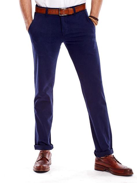 Granatowe spodnie męskie regular                              zdj.                              1