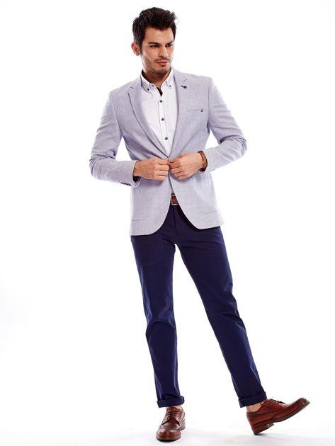 Granatowe spodnie męskie regular                              zdj.                              13