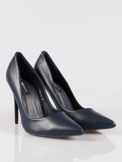 Granatowe szpilki high heels z noskiem w szpic Venus                                  zdj.                                  2