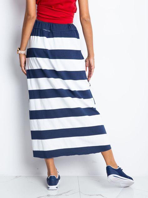Granatowo-biała spódnica Freshest                              zdj.                              2