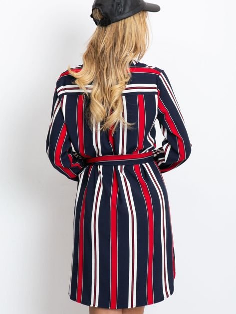 Granatowo-czerwona sukienka Tuscany                              zdj.                              2