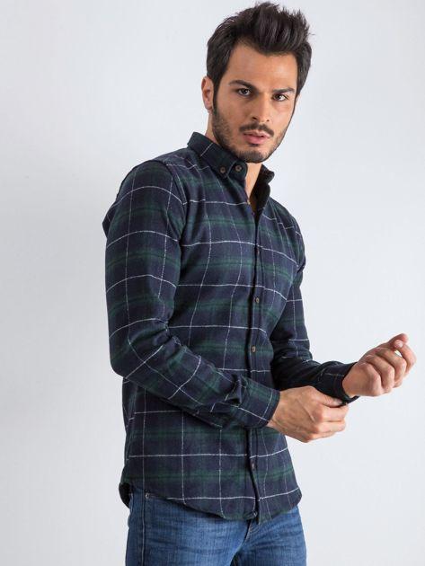 Granatowo-zielona koszula męska Lumberjack                              zdj.                              1