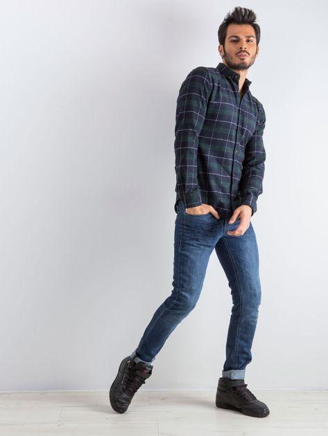 Granatowo-zielona koszula męska Lumberjack                              zdj.                              4