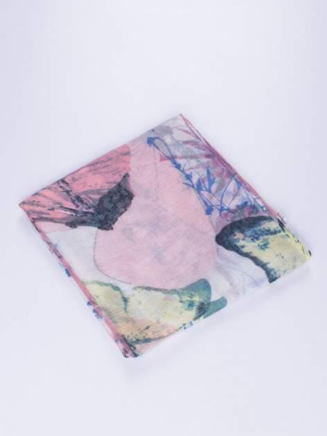 Granatowy cienki szal w motyle                                  zdj.                                  2