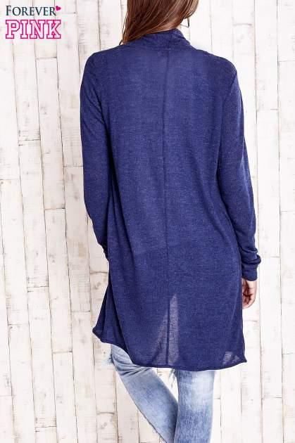 Granatowy długi sweter                                   zdj.                                  4