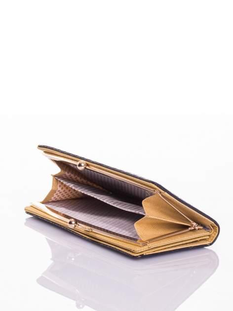 Granatowy elegancki portfel na bigiel                                  zdj.                                  2