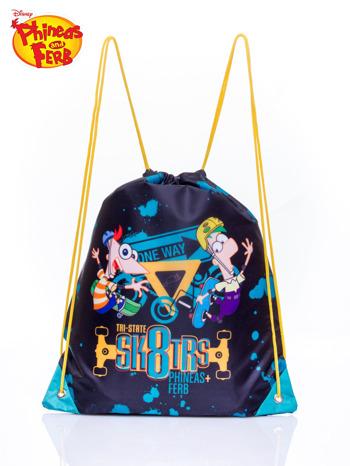 Granatowy plecak worek DISNEY Fineasz i Ferb                                   zdj.                                  1