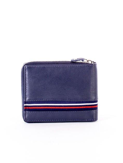 Granatowy portfel dla mężczyzny ze skóry naturalnej                              zdj.                              2
