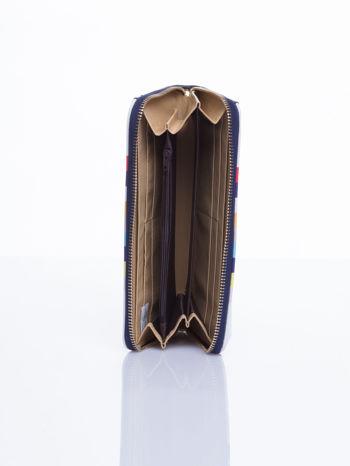 Granatowy portfel w paski z kieszonką                                  zdj.                                  4