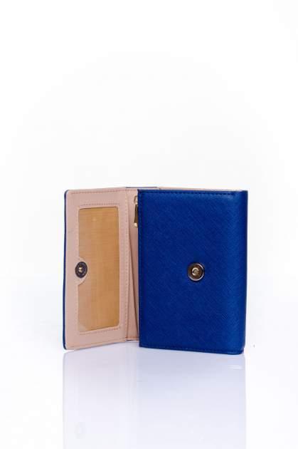 Granatowy portfel z kokardką                                  zdj.                                  4