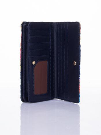 Granatowy portfel z nadrukiem paisley                                  zdj.                                  5