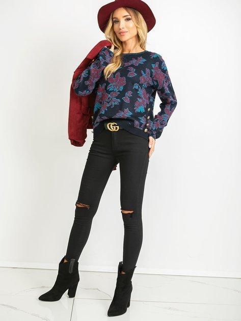 Granatowy sweter Miley                              zdj.                              4