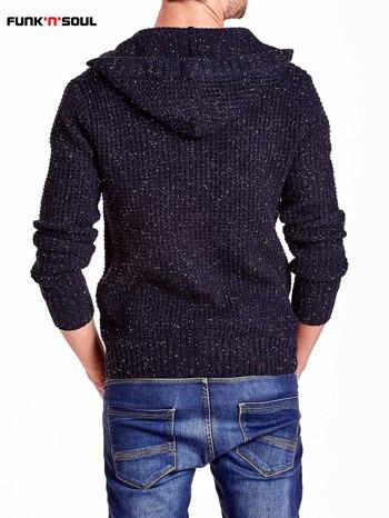 Granatowy sweter męski z kapturem FUNK N SOUL                                  zdj.                                  3
