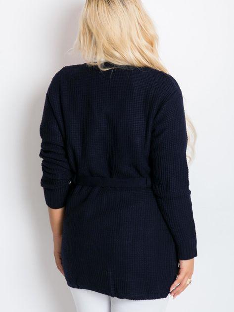 Granatowy sweter plus size Fluent                              zdj.                              2