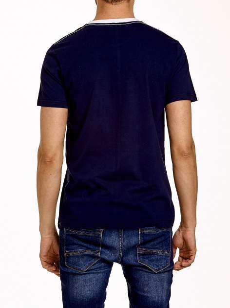 Granatowy t-shirt męski z napisami BROOKLYN NEW YORK SPIRIT 86                                  zdj.                                  5