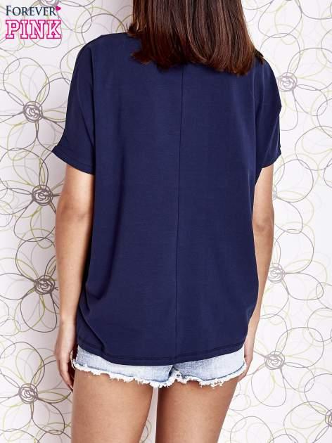 Granatowy t-shirt oversize                                  zdj.                                  4