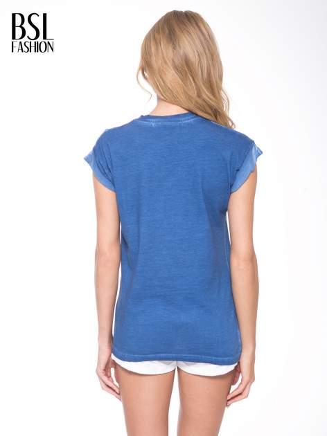 Granatowy t-shirt z nadrukiem GUNS N' ROSES                                  zdj.                                  4