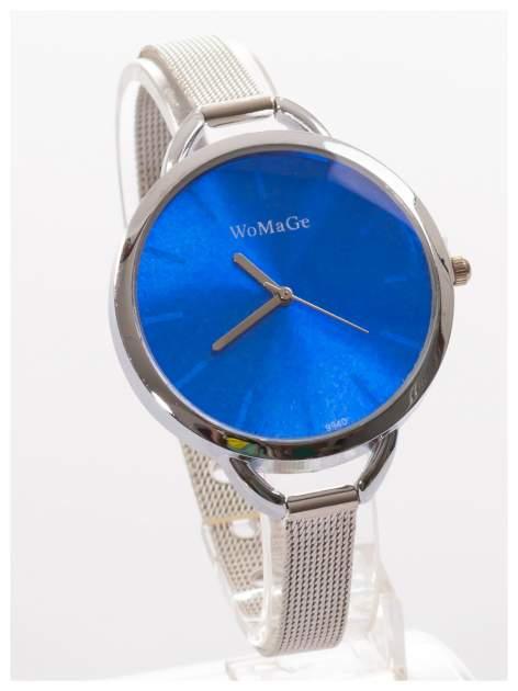 Granatowy zegarek damski na bransolecie                                  zdj.                                  3