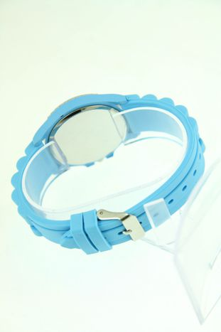 Granatowy zegarek damski na silikonowym pasku                                  zdj.                                  3