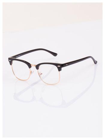 HIT 2016 Modne okulary zerówki typu CLUBMASTER- soczewki ANTYREFLEKS                                   zdj.                                  1