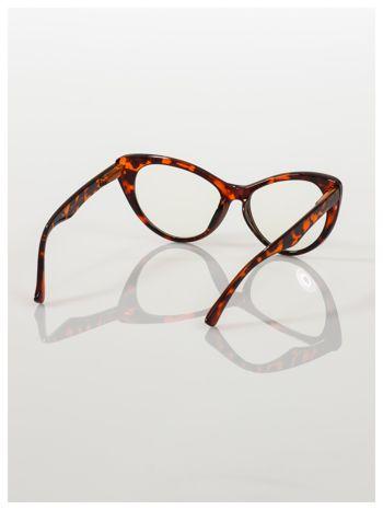 HIT 2016 Modne okulary zerówki typu KOCIE OCZY w stylu Marlin Monroe; soczewki ANTYREFLEKS+system FLEX na zausznikach                                  zdj.                                  5
