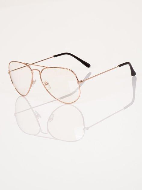 HIT 2017 Modne okulary zerówki AVIATORY