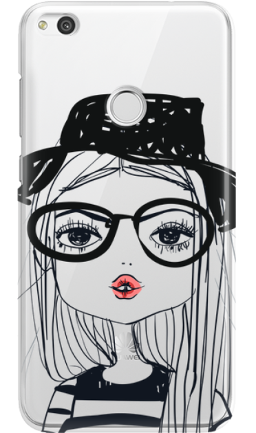 HUAWEI P8/P9 LITE 2017 GIRL WITH PINK