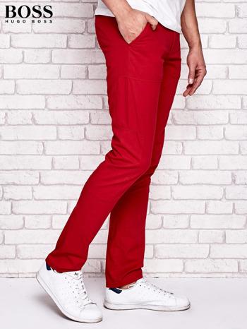 HUGO BOSS Czerwone spodnie męskie z przeszyciami                                  zdj.                                  2