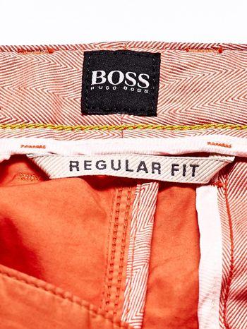 HUGO BOSS Pomarańczowe spodnie męskie                                  zdj.                                  4