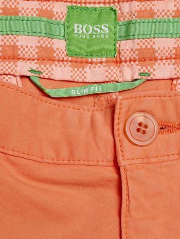 HUGO BOSS Pomarańczowe spodnie męskie z kieszeniami                                  zdj.                                  3