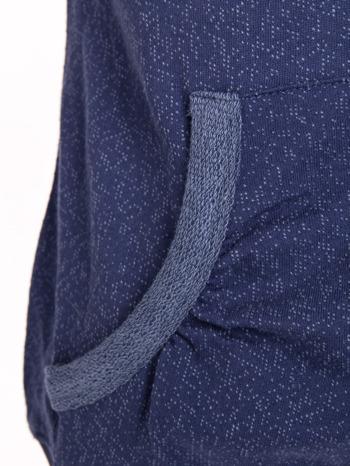 """HipsterCat' Niebieska bluza z nadrukiem kota                                  zdj.                                  4"