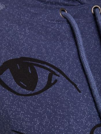 """HipsterCat' Niebieska bluza z nadrukiem kota                                  zdj.                                  7"