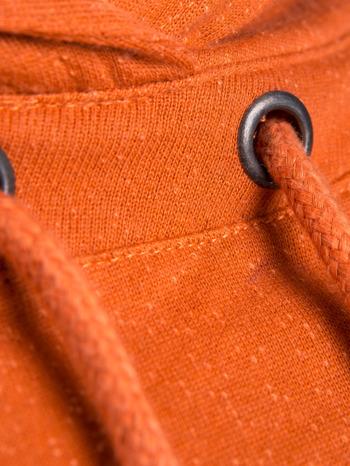 """""""HipsterCat' Pomarańczowa bluza z nadrukiem kota                                  zdj.                                  10"""