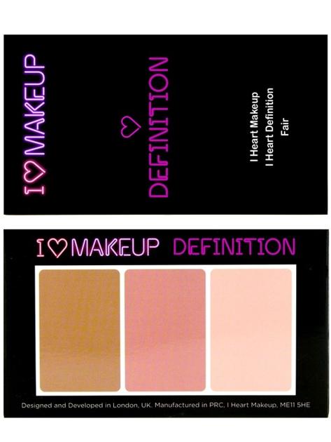 I Heart Makeup I ♡ Definition Zestaw do konturowania twarzy Fair 11 g